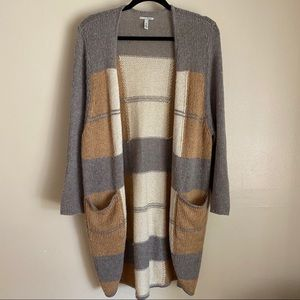 Halogen long cardigan with pockets, OS
